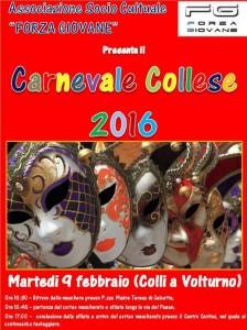 Locandina Carnevale Collese edizione 2016